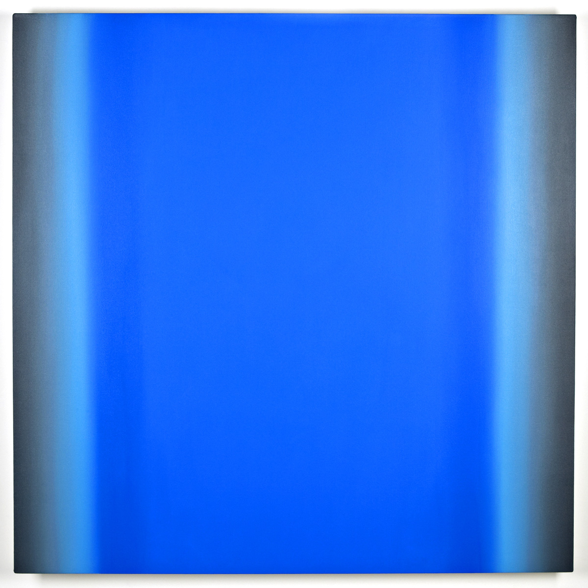Blue Orange 10-S6060 (Violet Blue Deep), Interplay Series, 2013, oil on canvas on custom beveled stretcher, 60 x 60 in. (153 x 153 cm.)