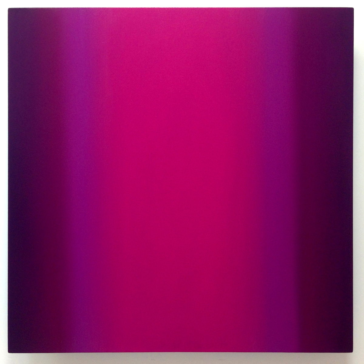 Mind's Eye Magenta Violet 1-S4040 (Magenta Violet), Sense Certainty Series, 2014, oil on canvas on custom beveled stretcher, 40 x 40 in. (102 x 102 cm.)