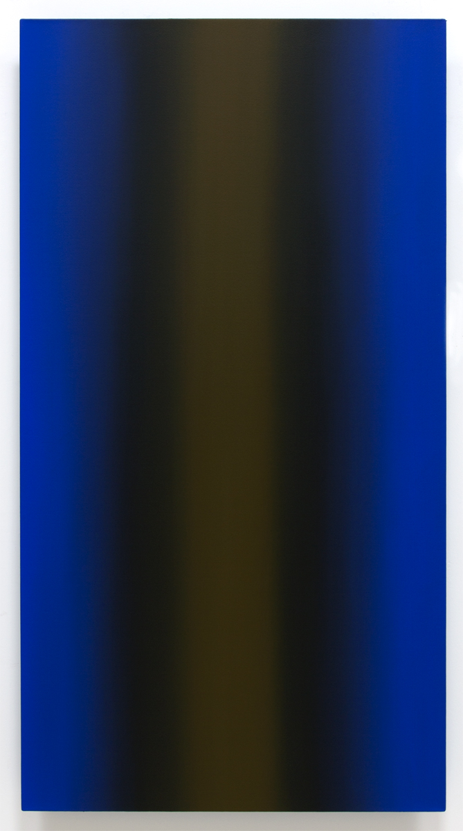 Mind's Eye Blue Orange 5-V6032 (Orange Ochre), Sense Certainty Series, 2014, oil on canvas on custom beveled stretcher, 60 x 32 in. (153 x 82 cm.)