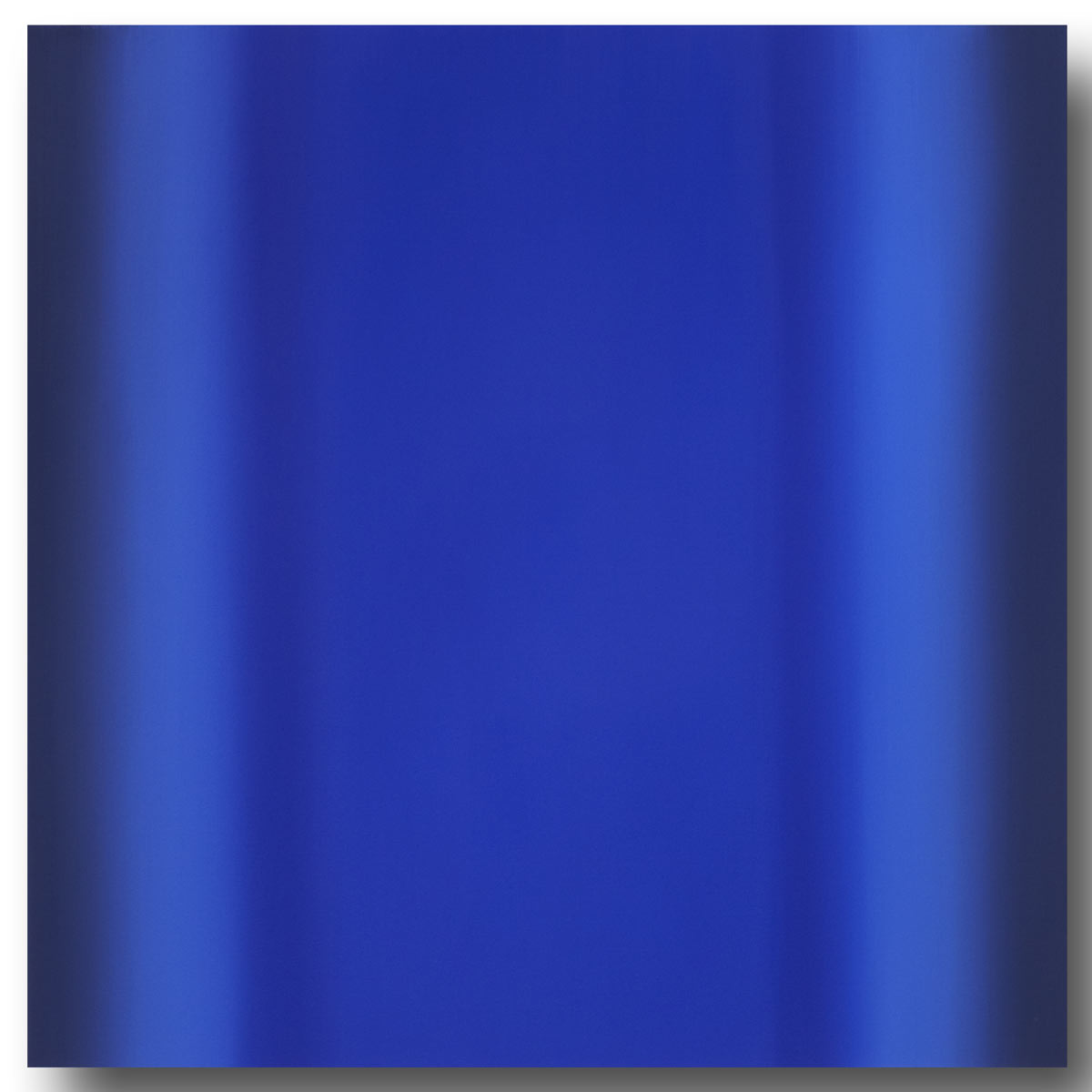 Mind's Eye Blue Orange 2-S4848 (Blue Deep), Sense Certainty Series, 2014, oil on canvas on custom beveled stretcher, 48 x 48 in. (122 x 122 cm.)