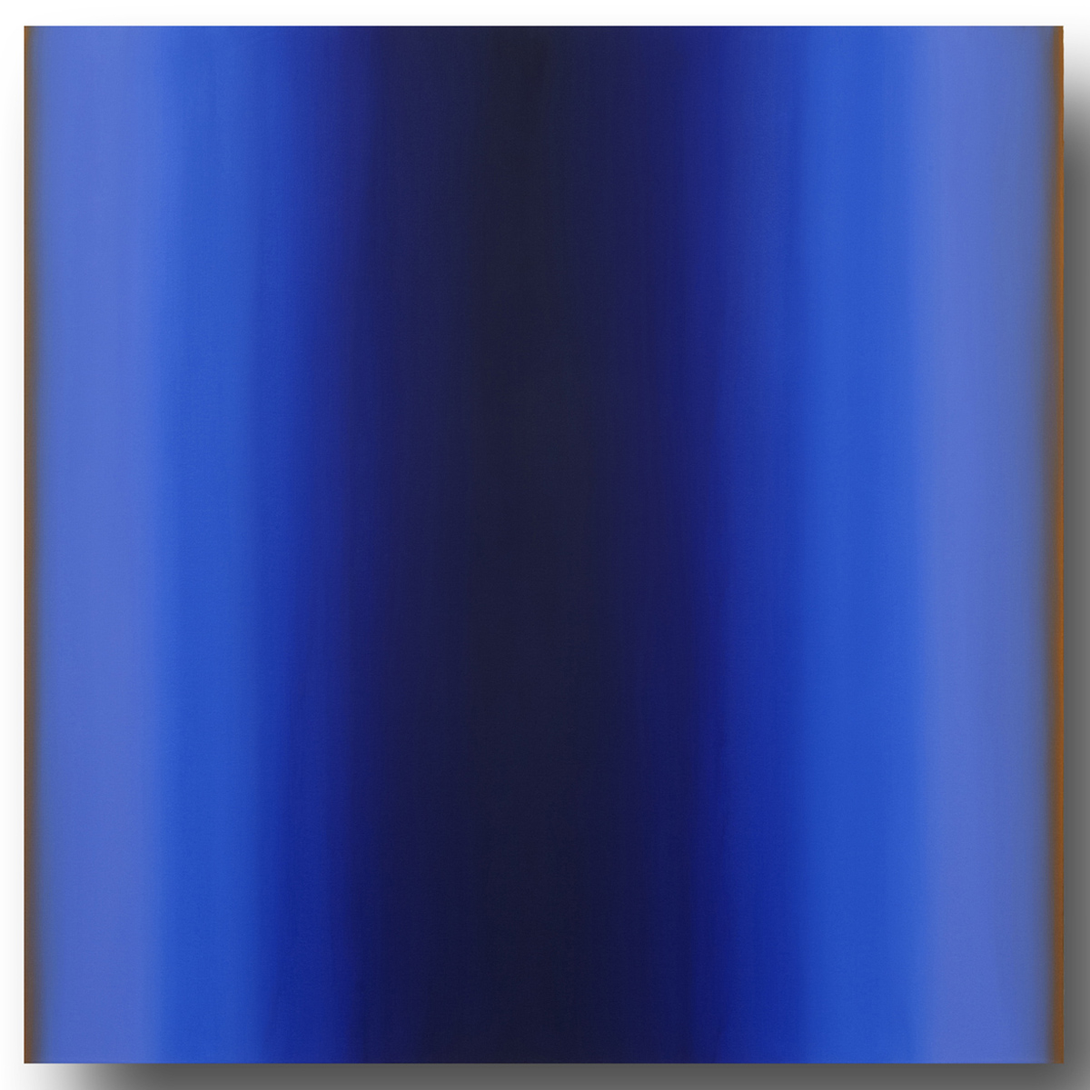 Mind's Eye Blue Orange 5-S4848 (Blue Violet), Sense Certainty Series, 2014, oil on canvas on custom beveled stretcher, 48 x 48 in. (122 x 122 cm.)