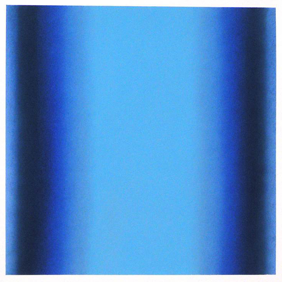 Cool-Light Cerulean-Prussian, Interplay Series, 2012, pastel on paper, image: 14 x 14 in. (36 x 36 cm.), sheet: 30 x 22 in. (76 x 56 cm.)