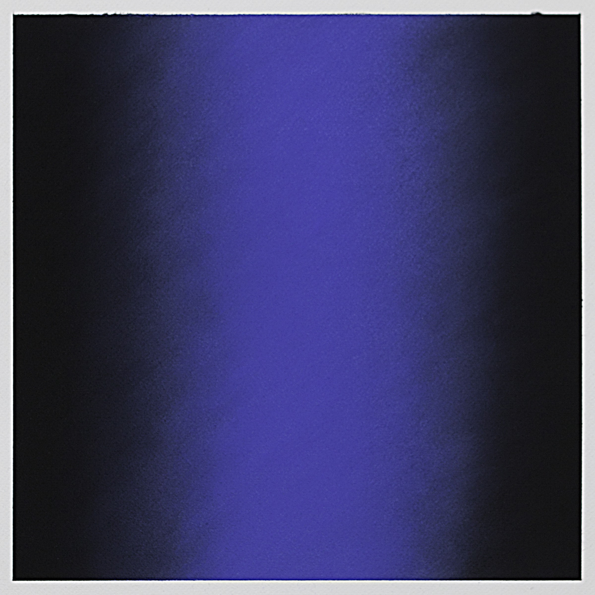 Blue (Black), Primary Red Blue Series, 2011, pastel on paper, image: 14 x 14 in. (36 x 36 cm.), sheet: 30 x 22 in. (76 x 56 cm.)