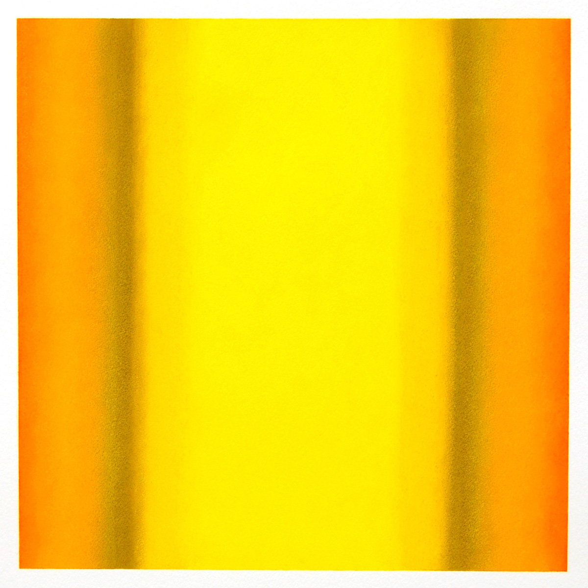 Warm-Light Yellow-Orange-Ochre, Interplay Series, 2012, pastel on paper, image: 14 x 14 in. (36 x 36 cm.), sheet: 30 x 22 in. (76 x 56 cm.)