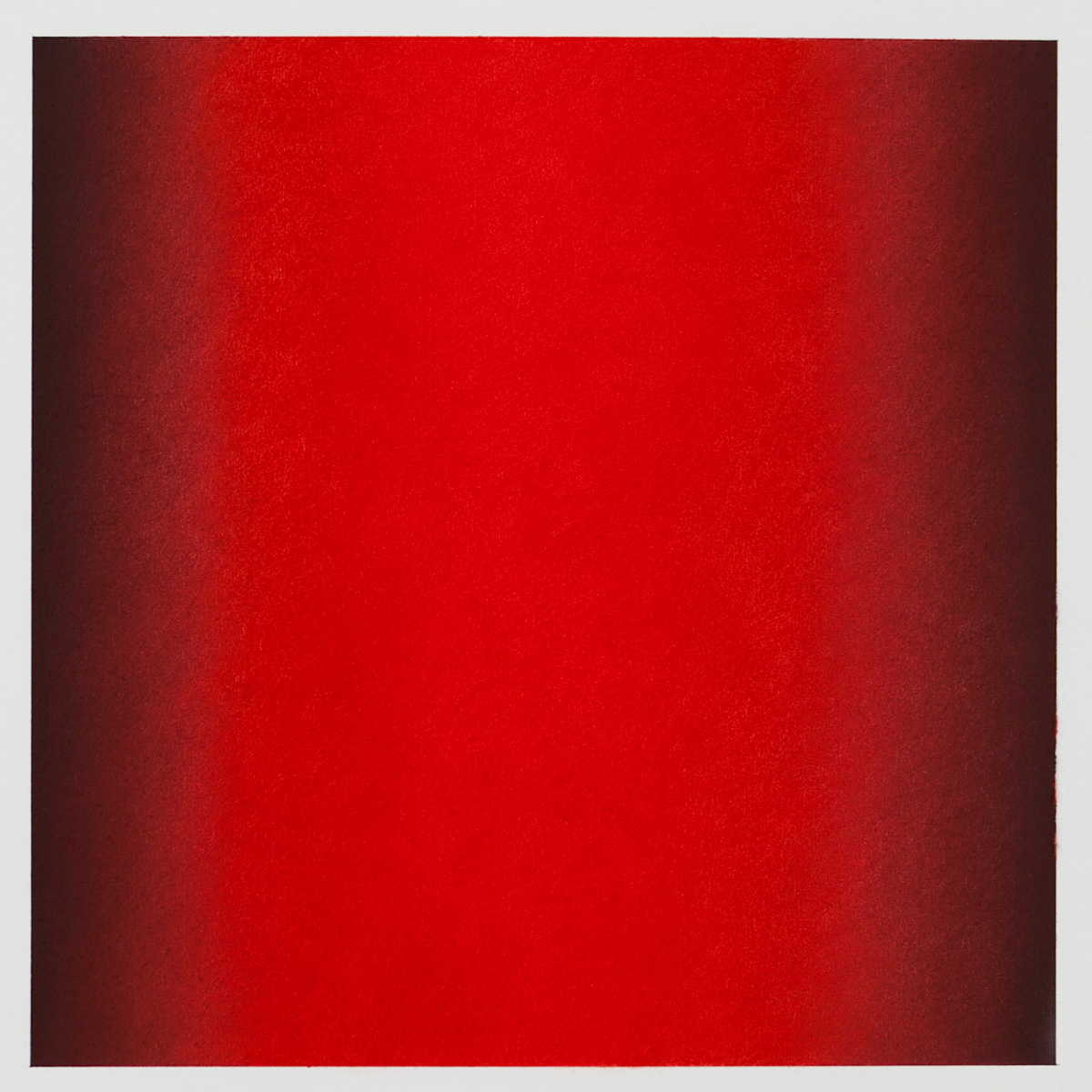 Red (Black), Primary Red Blue Series, 2011, pastel on paper, image: 14 x 14 in. (36 x 36 cm.), sheet: 30 x 22 in. (76 x 56 cm.)