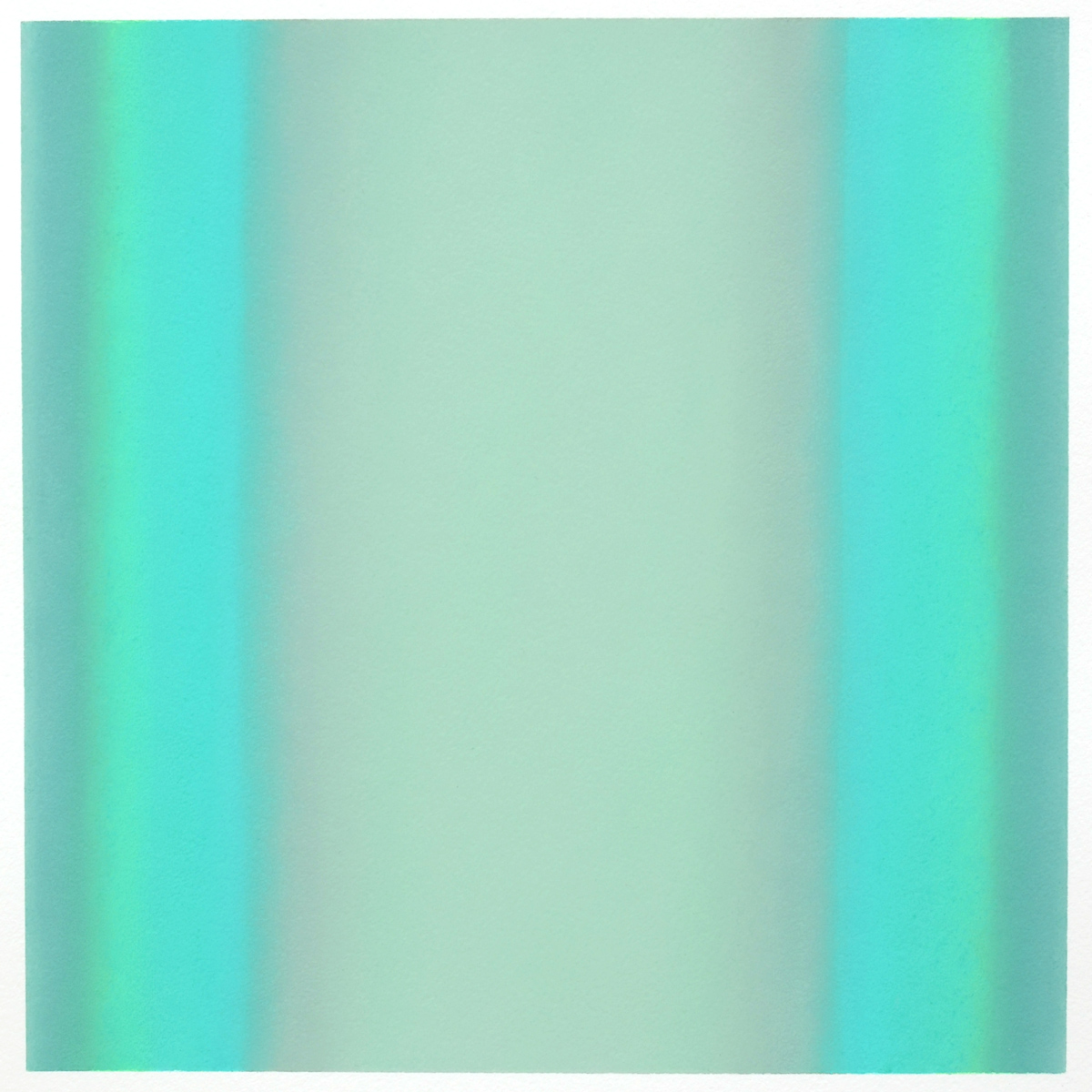 Cool-Light Gray-Green, Interplay Series, 2012, pastel on paper, image: 14 x 14 in. (36 x 36 cm.), sheet: 30 x 22 in. (76 x 56 cm.)