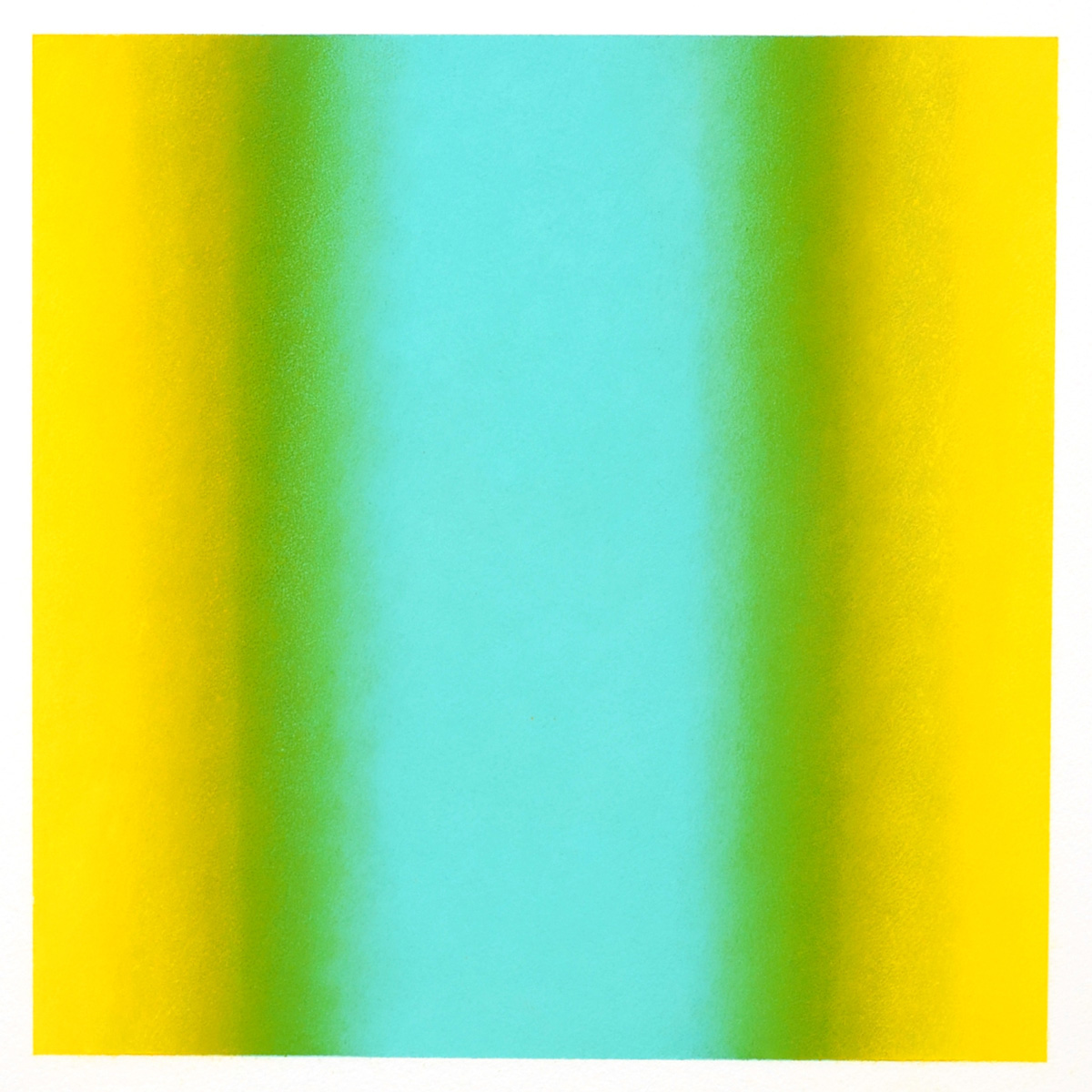 Cool-Light Yellow-Green, Interplay Series, 2012, pastel on paper, image: 14 x 14 in. (36 x 36 cm.), sheet: 30 x 22 in. (76 x 56 cm.)