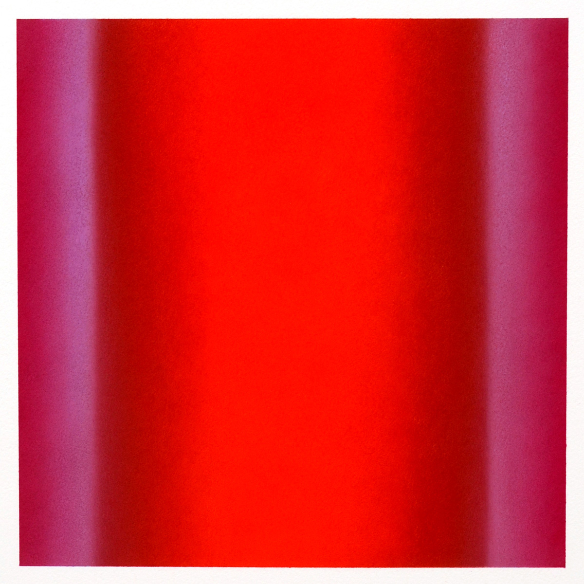 Warm-Light Red-Magenta-Violet, Interplay Series, 2012, pastel on paper, image: 14 x 14 in. (36 x 36 cm.), sheet: 30 x 22 in. (76 x 56 cm.)
