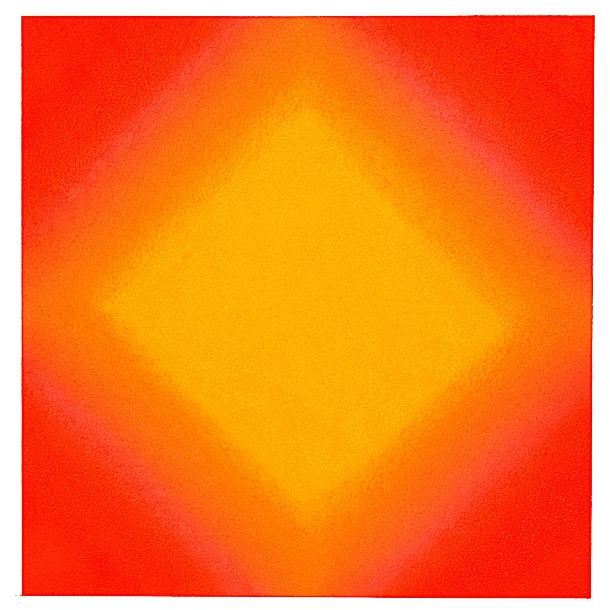 Warm-Light Yellow-Orange, Diamond, Warm-Light Cool-Light Series, 2012, pastel on paper, image: 14 x 14 in. (36 x 36 cm.), sheet: 30 x 22 in. (76 x 56 cm.)