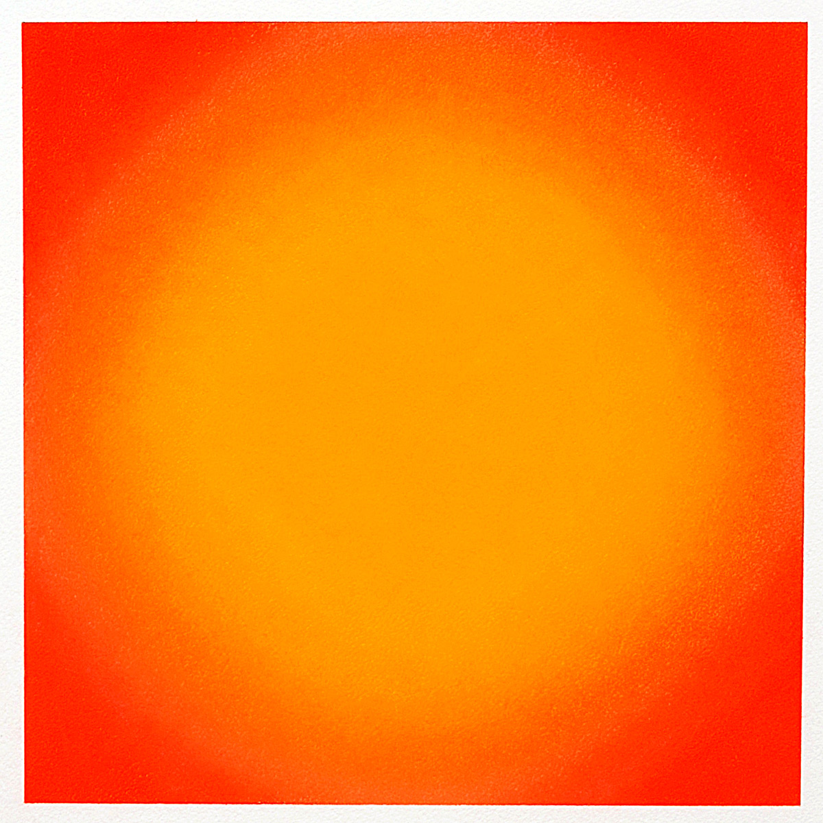 Warm-Light Yellow-Orange, Circle, Warm-Light Cool-Light Series, 2012, pastel on paper, image: 14 x 14 in. (36 x 36 cm.), sheet: 30 x 22 in. (76 x 56 cm.)