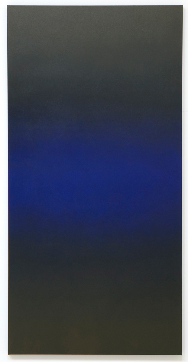 Shifting (Blue Orange), Primary Red Blue Series, 2008, oil on canvas, 80 x 40 in. (204 x 102 cm.)