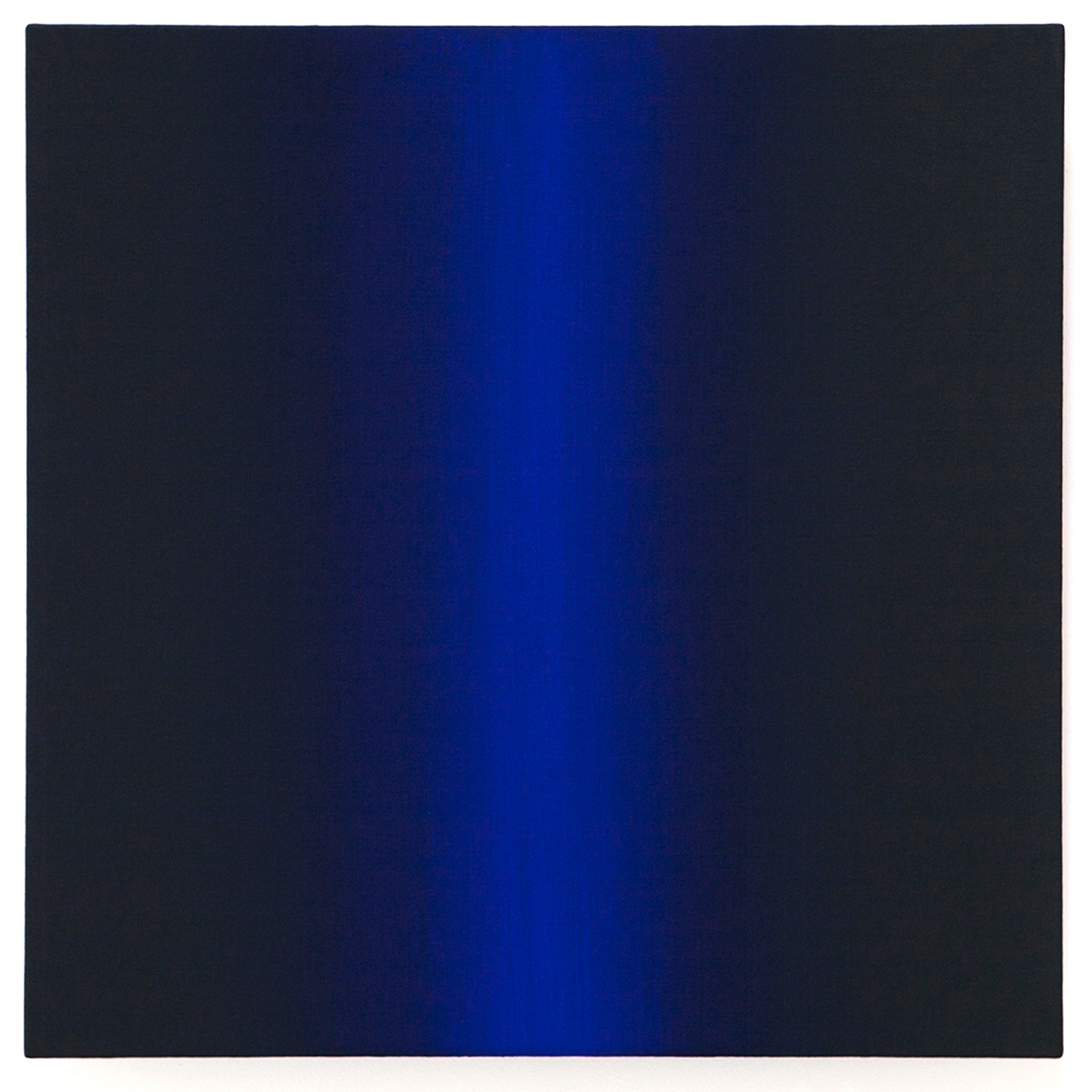 Dare (Blue Orange), Present Fugitive Series, 2010, oil on canvas on custom beveled stretcher, 24 x 24 x 3 in. (61 x 61 x 7 cm.)
