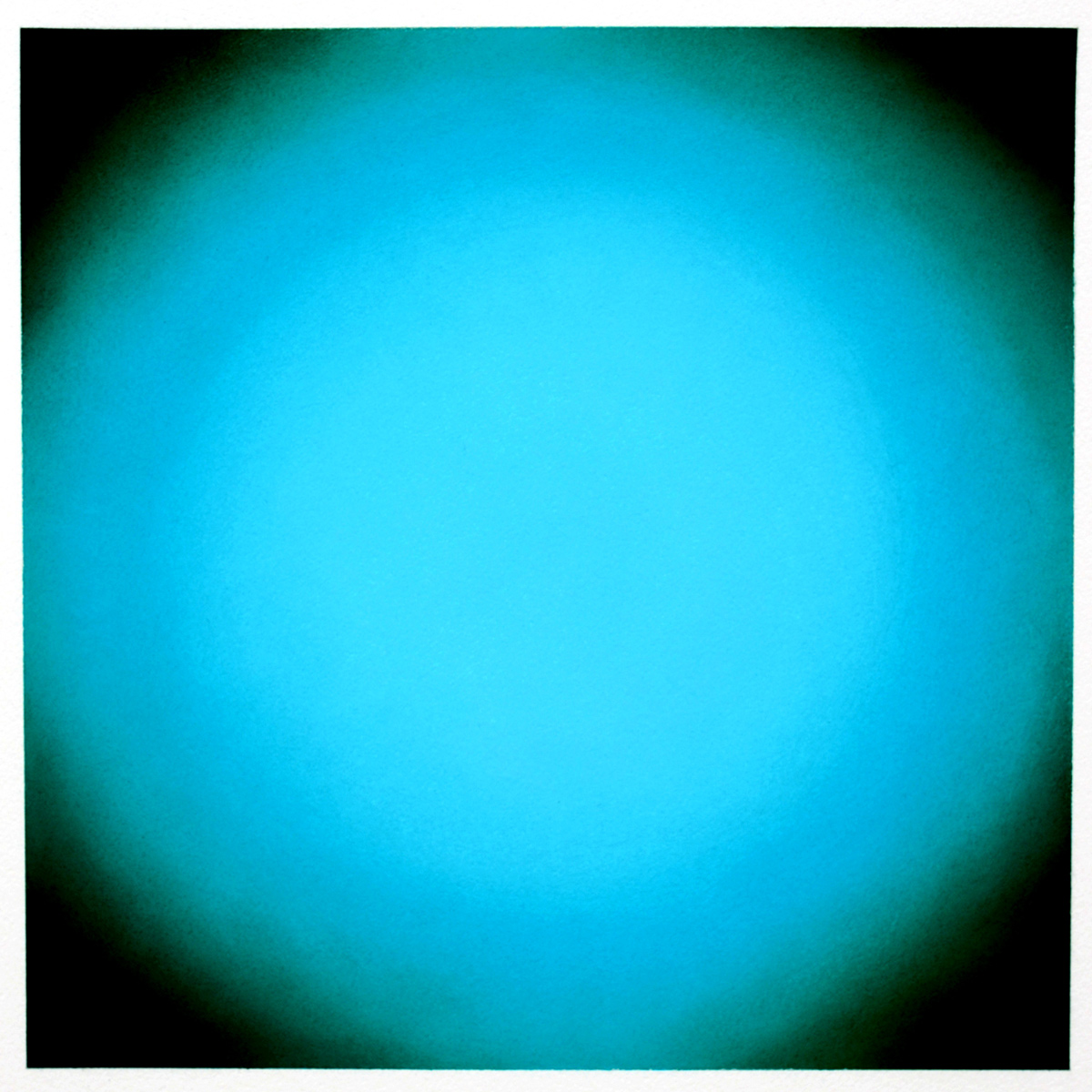 Cool-Light Blue Green, Circle, Warm-Light Cool-Light Series, 2012, pastel on paper, image: 14 x 14 in. (36 x 36 cm.), sheet: 30 x 22 in. (76 x 56 cm.)