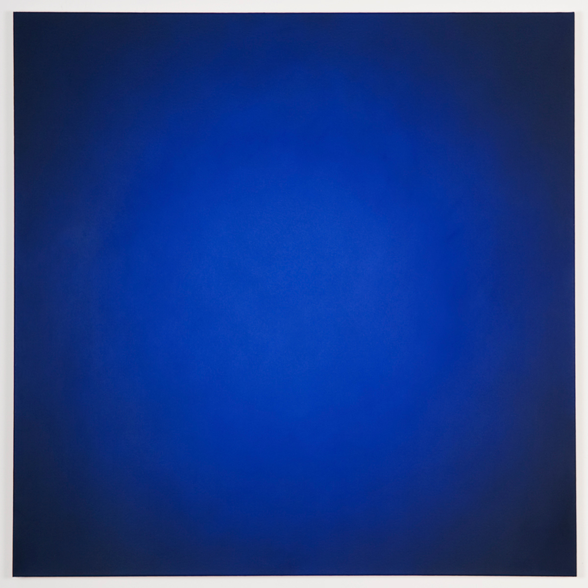 Helio (Blue Orange), Primary Red Blue Series, 2008, oil on canvas, 48 x 48 in. (122 x 122 cm.)