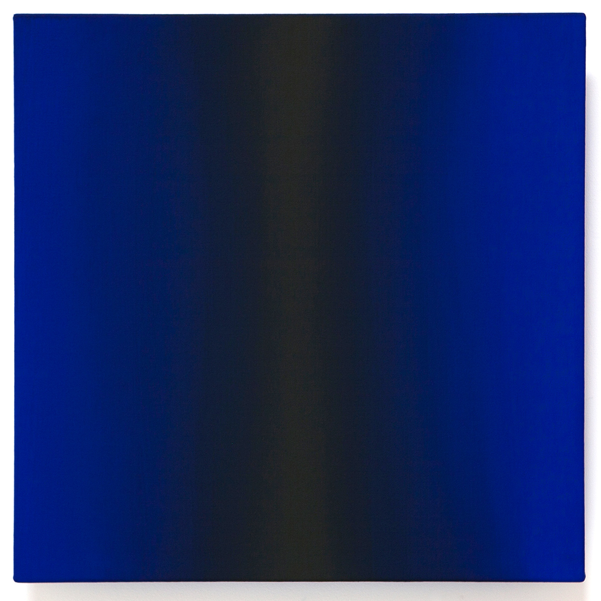 Delight (Blue Orange), Present Fugitive Series, 2010, oil on canvas on custom beveled stretcher, 24 x 24 x 3 in. (61 x 61 x 7 cm.)