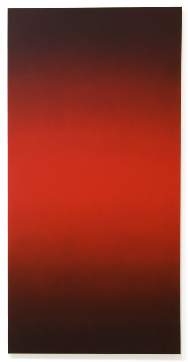 Blazen (Red Green), Primary Red Blue Series, 2008, oil on canvas, 80 x 40 in. (204 X 102 cm.)
