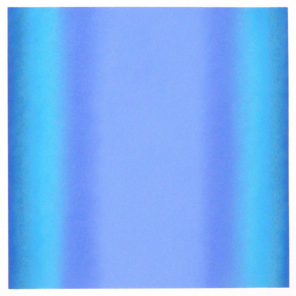 Cool-Light Ultramarine-Cobalt, Warm-Light Cool-Light Series, 2012, pastel on paper, image: 14 x 14 in. (36 x 36 cm.), sheet: 30 x 22 in. (76 x 56 cm.)
