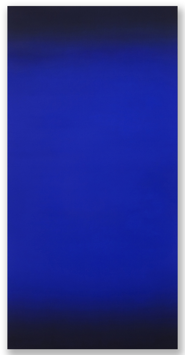 Beacon (Blue Orange), Primary Red Blue Series, 2008, oil on canvas, 80 x 40 in. (204 X 102 cm.)
