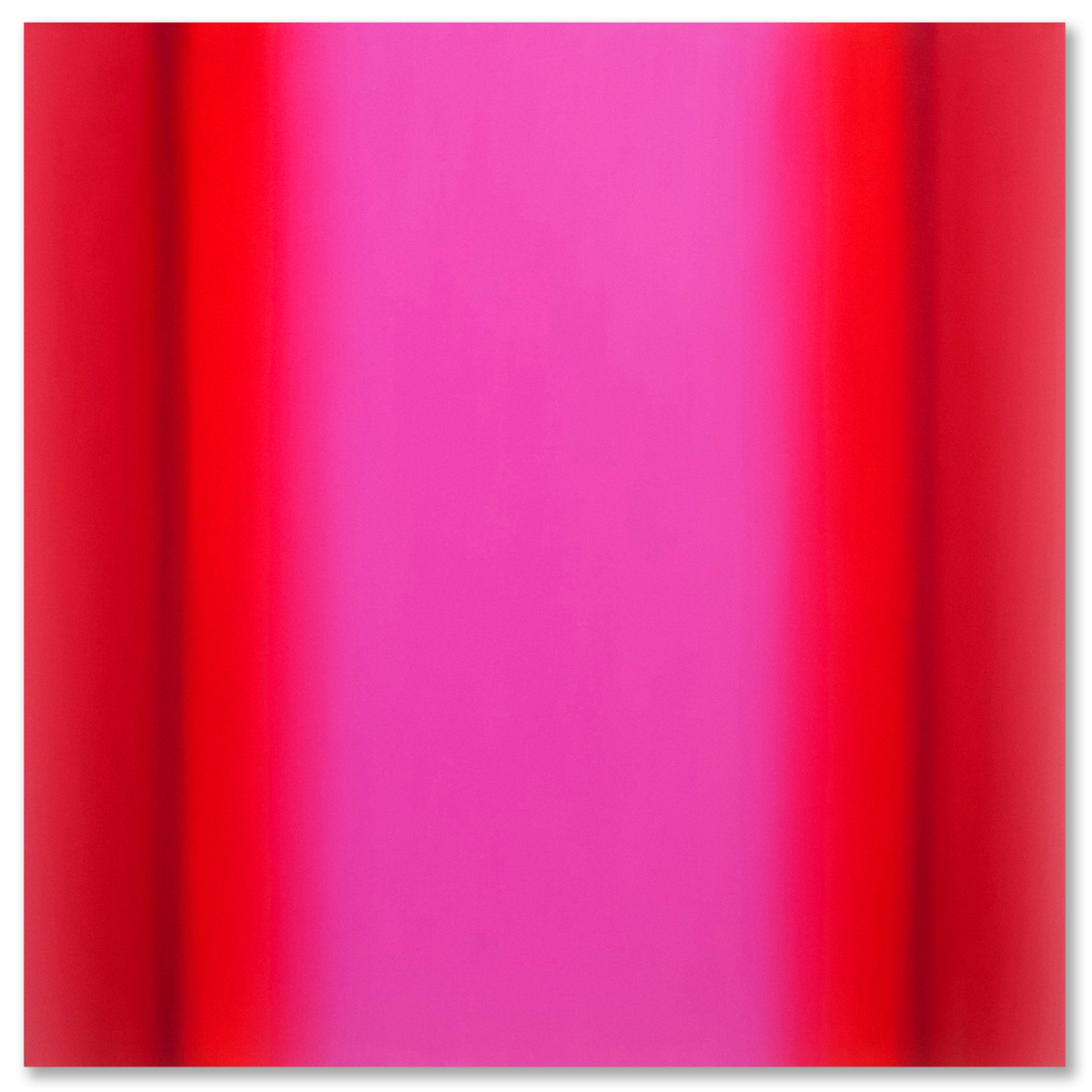 Matter of Light 14-S4848 (Red Magenta), Matter of Light Series, 2016, oil on canvas on custom beveled stretcher, 48 x 48 x 3 in. (122 x 122 x 7 cm.)