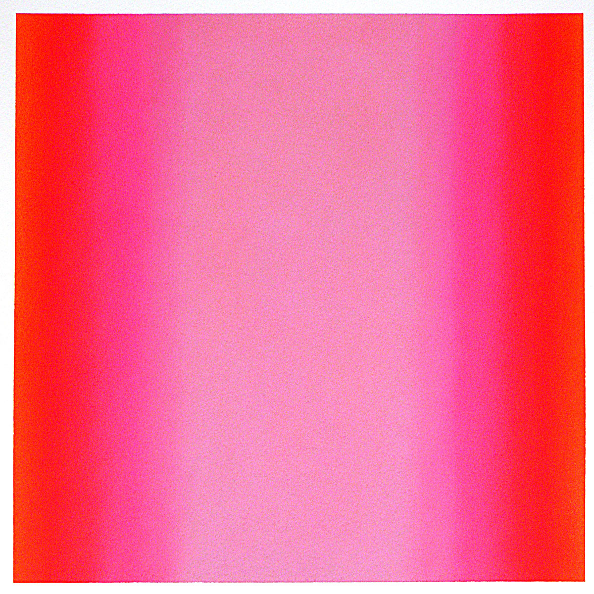 Warm-Light Red-Magenta, Warm-Light Cool-Light Series, 2012, pastel on paper, image: 14 x 14 in. (36 x 36 cm.), sheet: 30 x 22 in. (76 x 56 cm.)