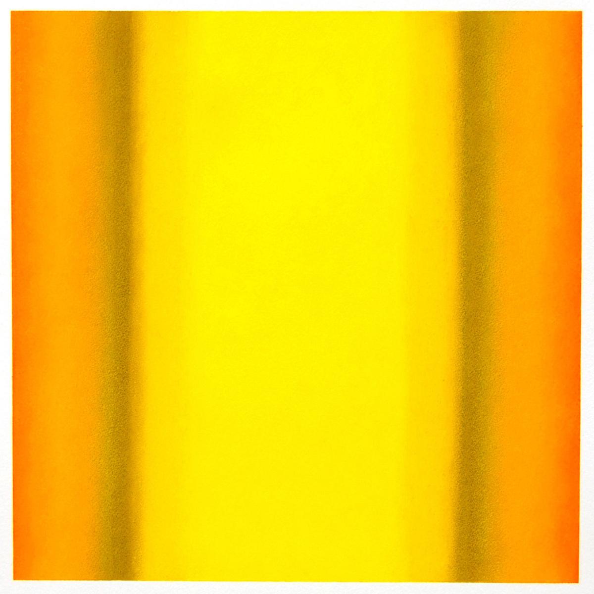 Warm-Light Yellow-Orange-Ochre, Interplay Series, 2012, pastel on paper, image: 14 x 14 in. (36 x 36 cm.), sheet: 30 x 22 in. (76 x 56 cm.)