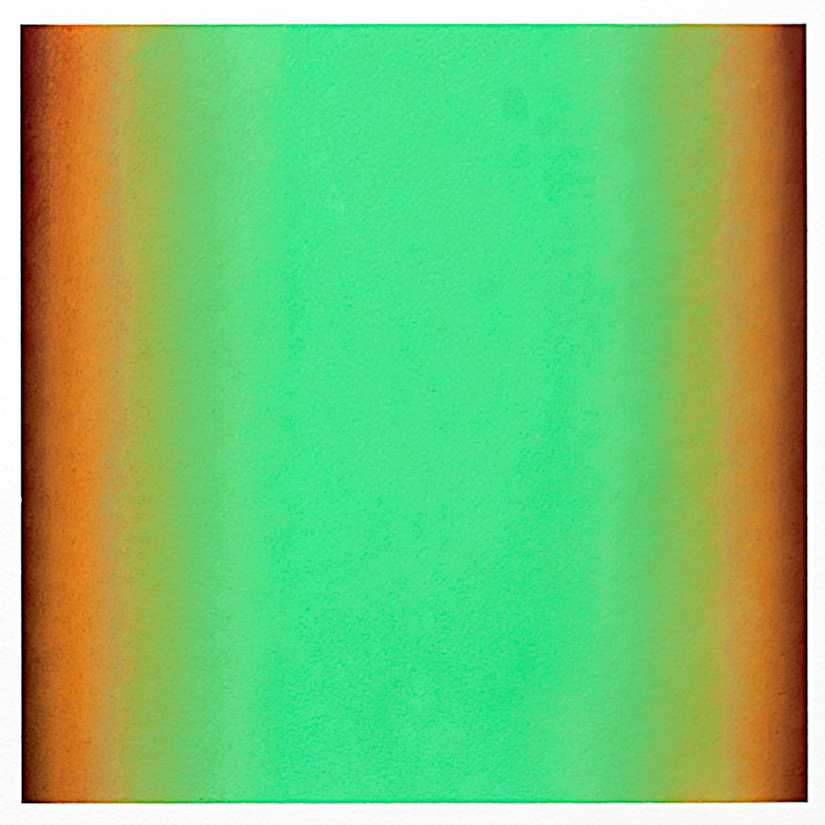 Cool-Light Green-Orange, Warm-Light Cool-Light Series, 2012, pastel on paper, image: 14 x 14 in. (36 x 36 cm.), sheet: 30 x 22 in. (76 x 56 cm.)