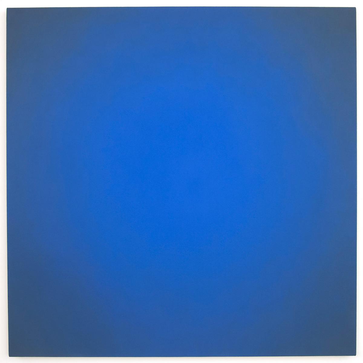 Blue Orange #1 (Orange), Equivalence Blue Orange Series, 2005, oil on canvas, 48 x 48 in. (122 x 122 cm.)