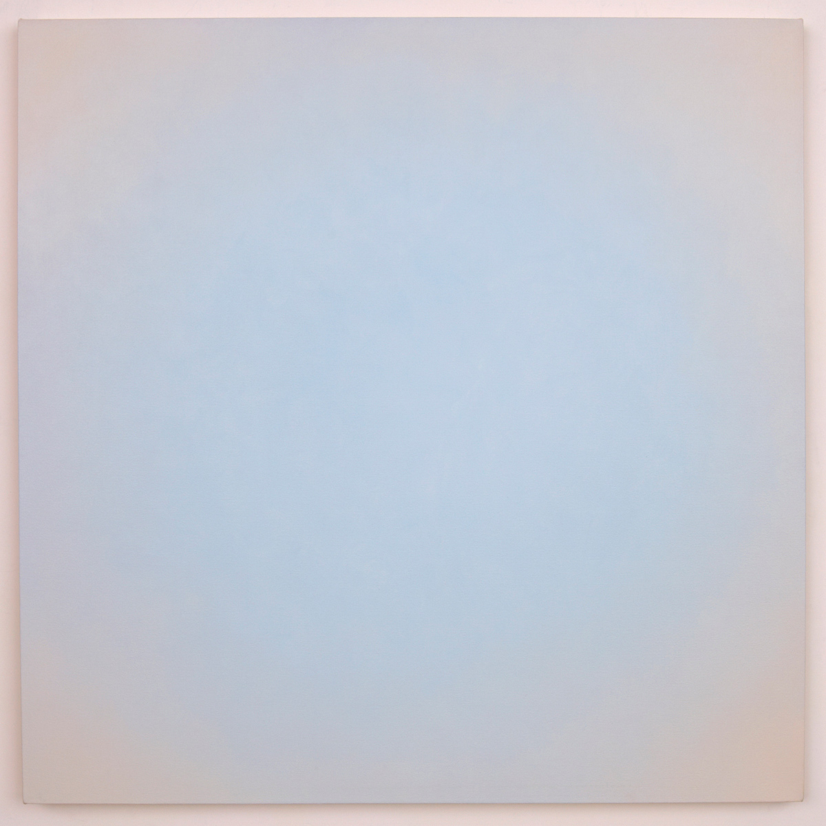 Blue Orange #10 (White/Orange), Equivalence Blue Orange Series, 2006, oil on canvas, 30 x 30 in. (76 x 76 cm.)