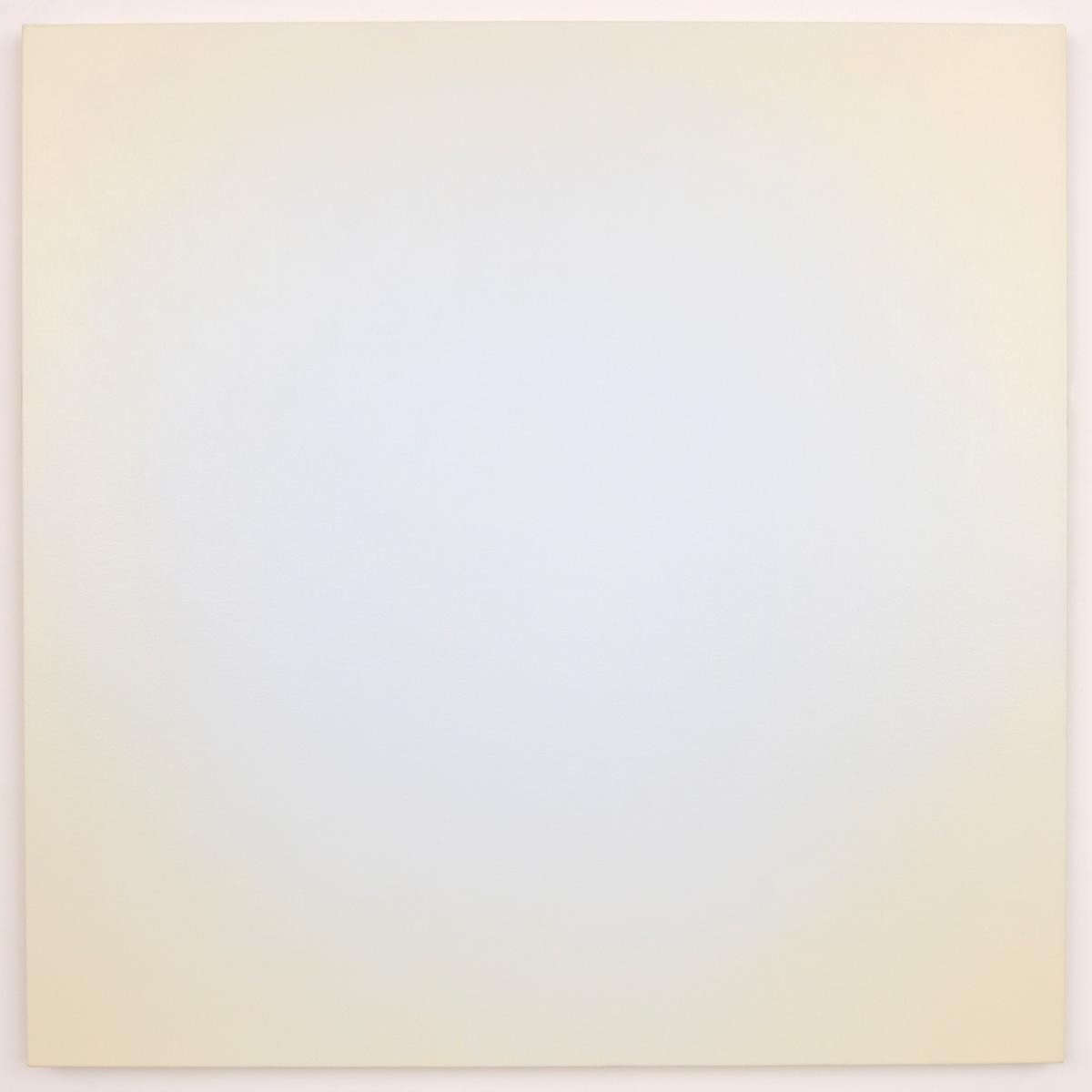Blue Orange #11 (White/Yellow-Orange), Equivalence Blue Orange Series, 2006, oil on canvas, 30 x 30 in. (76 x 76 cm.)