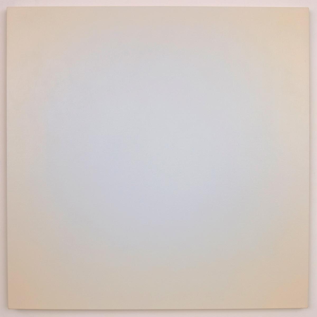 Blue Orange #12 (White/Red-Orange), Equivalence Blue Orange Series, 2006, oil on canvas, 30 x 30 in. (76 x 76 cm.)