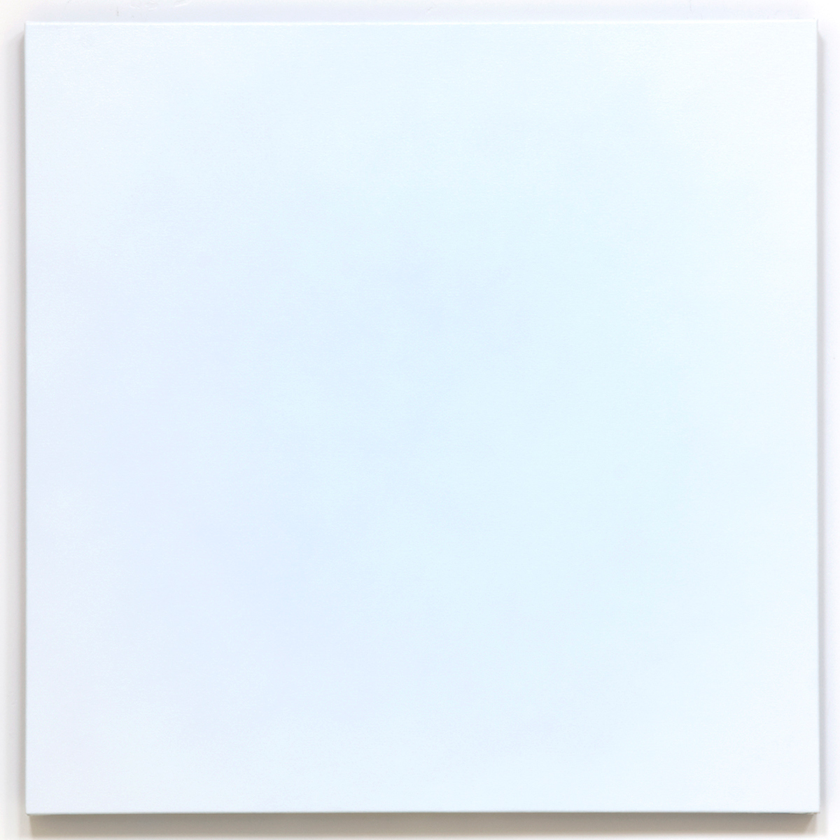 Pierce 1 (White), Equivalence Blue Orange Series, 2008, oil on canvas, 40 x 40 in. (102 x 102 cm.)
