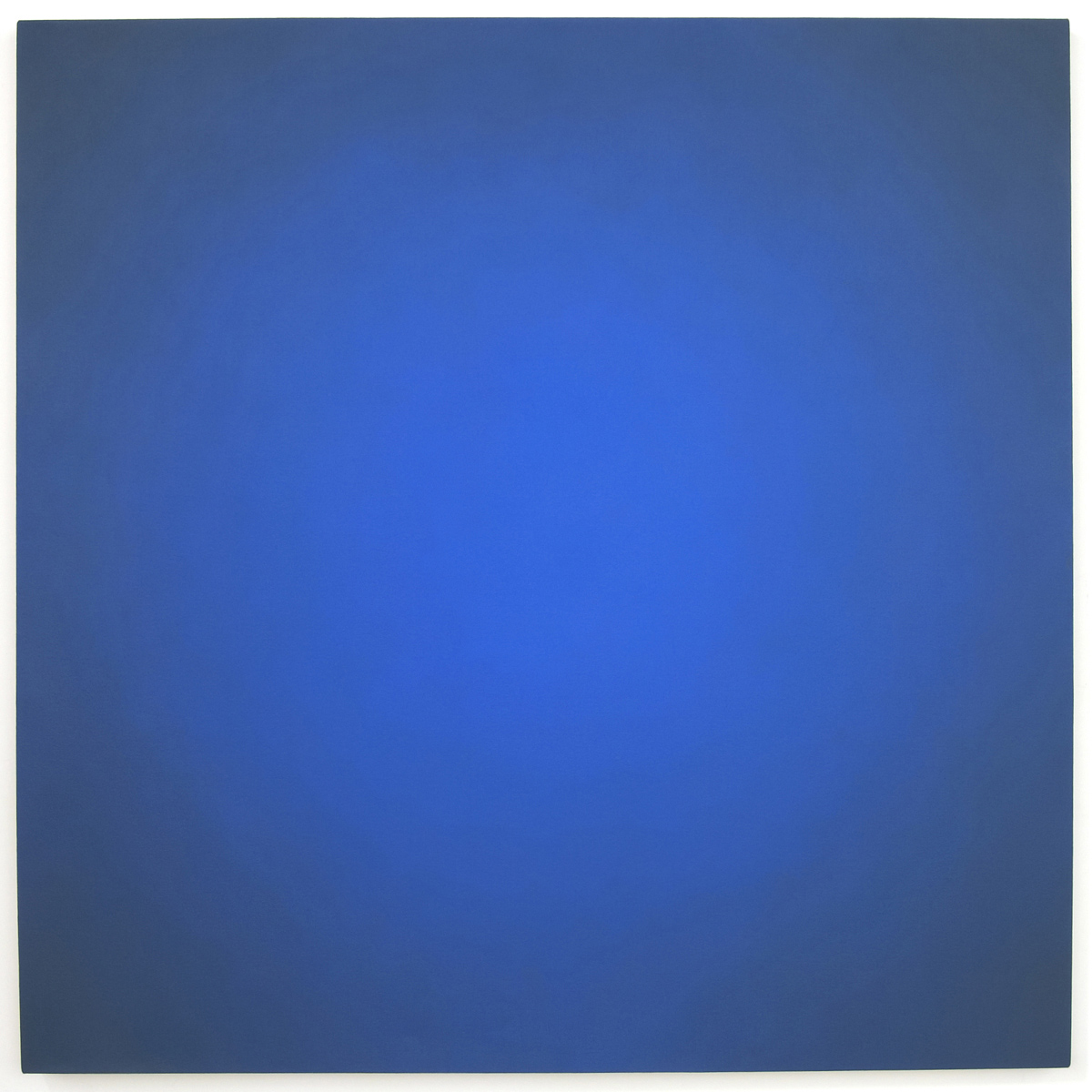 Blue Orange #3 (Red-Orange), Equivalence Blue Orange Series, 2005, oil on canvas, 48 x 48 in. (122 x 122 cm.)