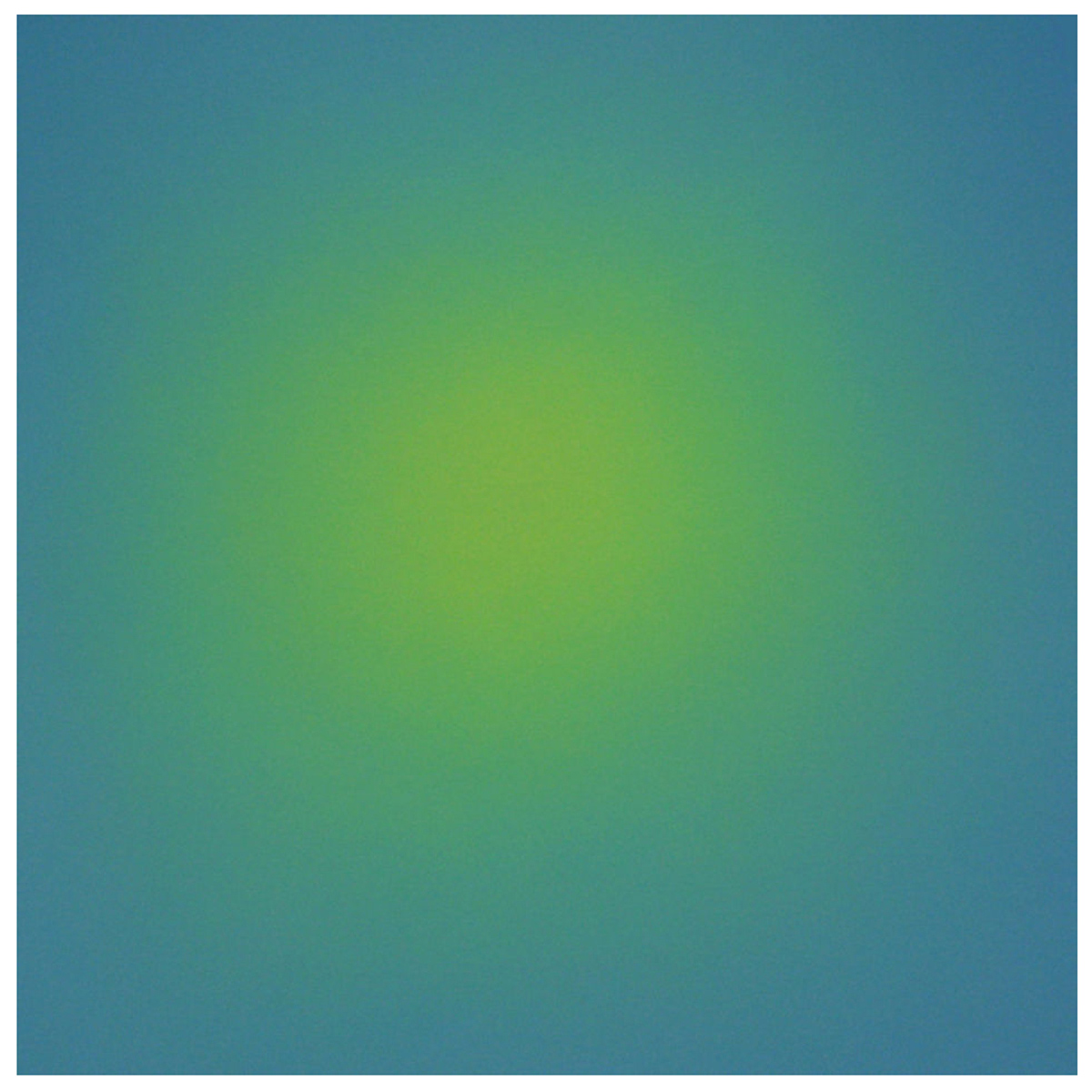 Source (Yellow Blue-Violet), Ray Painting #5, 1997, oil on canvas, 30 x 30 in. (76 x 76 cm.)