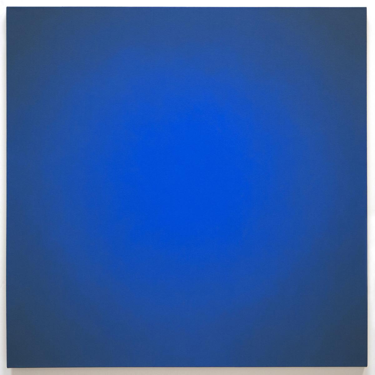 Blue Orange #5 (Yellow-Orange), Equivalence Blue Orange Series, 2005, oil on canvas, 30 x 30 in. (76 x 76 cm.)