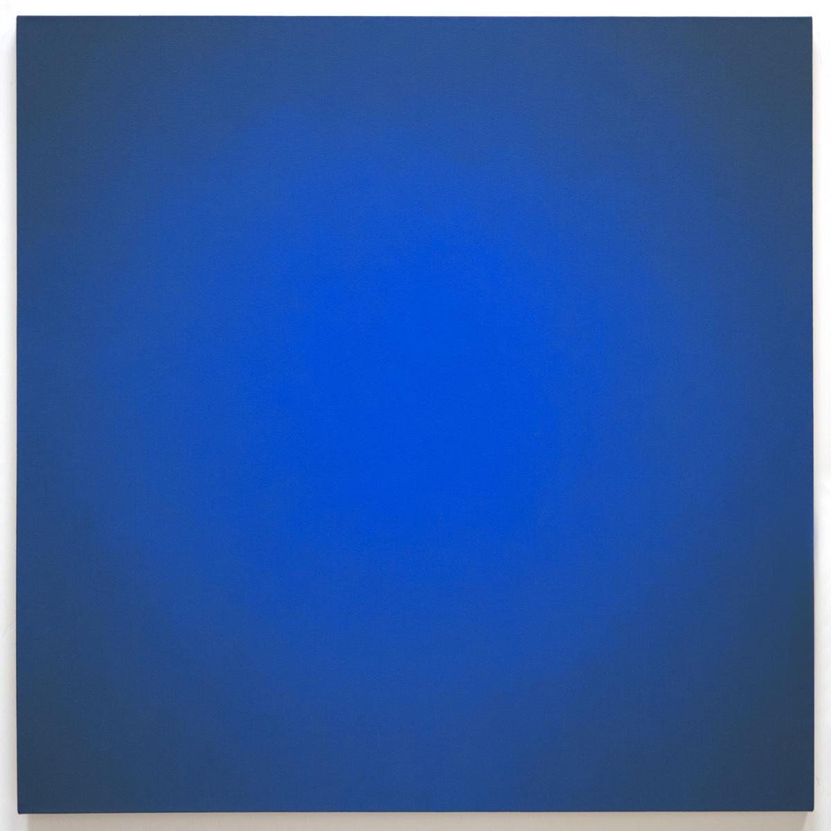 Blue Orange #6 (Red-Orange), Equivalence Blue Orange Series, 2005, oil on canvas, 30 x 30 in. (76 x 76 cm.)