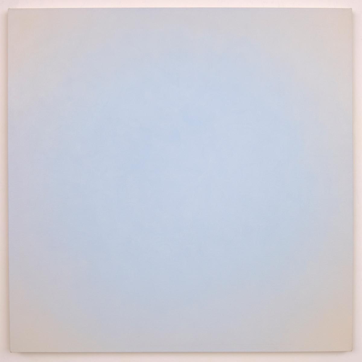 Blue Orange #7 (White/Orange), Equivalence Blue Orange Series, 2006, oil on canvas, 48 x 48 in. (122 x 122 cm.)