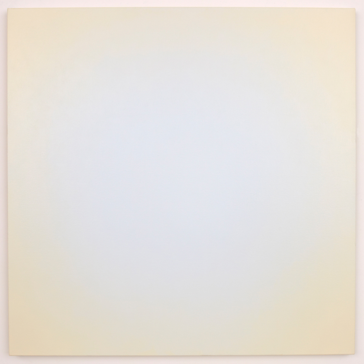Blue Orange #8 (White/Yellow-Orange), Equivalence Blue Orange Series, 2006, oil on canvas, 48 x 48 in. (122 x 122 cm.)